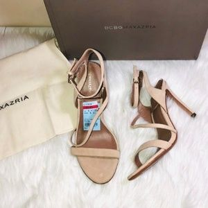 BCBGMaxazria Tea Rose Suede Sandals 6.5